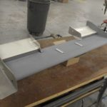 Formula front wing in process